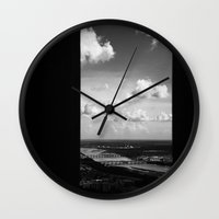 industrial Wall Clocks featuring Industrial by Tanner Albert