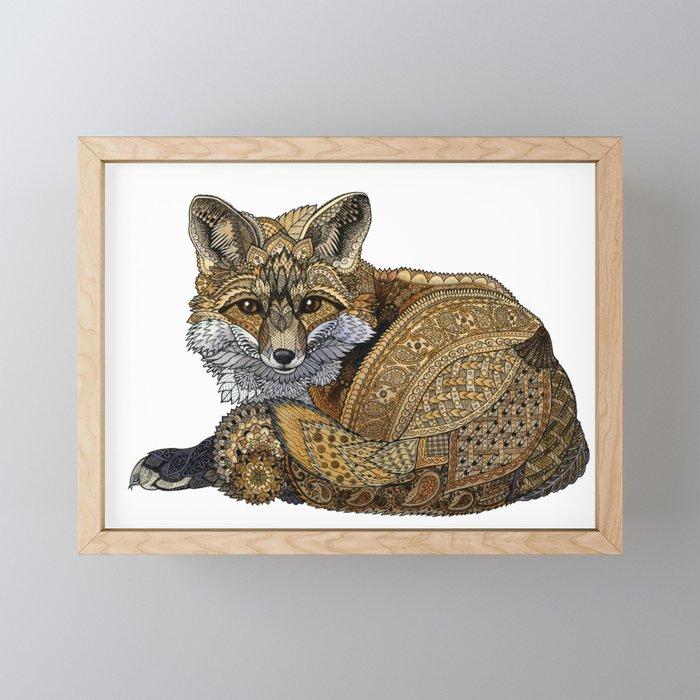 Fox Kit Framed Mini Art Print