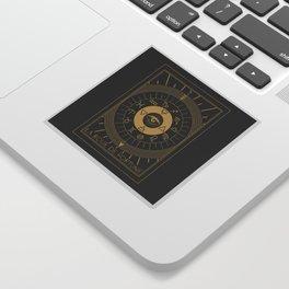 La Roue de Fortune or Wheel of Fortune Tarot Sticker