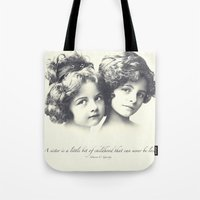 sisters Tote Bags featuring Sisters by Carol Knudsen Photographic Artist