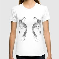 wolves T-shirts featuring WOLVES by Aonair Designs