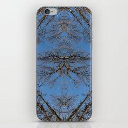 Mirroring high trees iPhone Skin