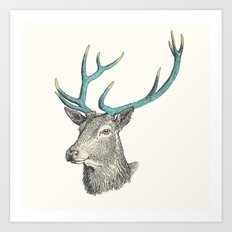 Party Animal - Deer Art Print