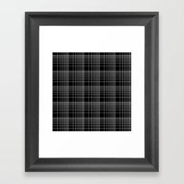 Back to School- Simple Handdrawn Grid Pattern- Black & White - Mix & Match with Simplicity of Life Framed Art Print