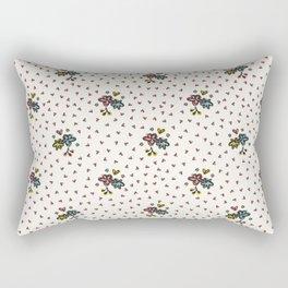 Cute Ditsy Daisy Heart Sprinkles Flowery Garden Rectangular Pillow