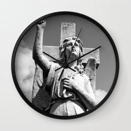 Angel and Cross Wall Clock