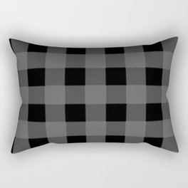 Gray Buffalo Plaid Rectangular Pillow