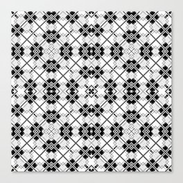 Geometric black and white Canvas Print