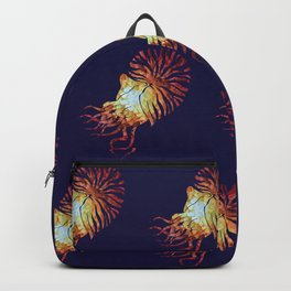 Blue Nautilus pattern Backpack
