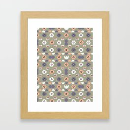 Bohemian Floral Pattern Framed Art Print
