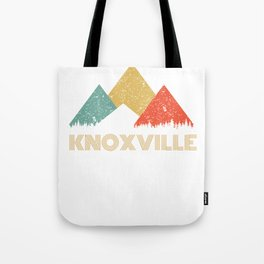 Retro City of Knoxville Mountain Shirt Tote Bag