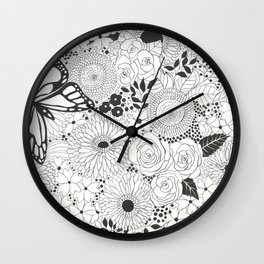 Monarch butterfly garden Wall Clock