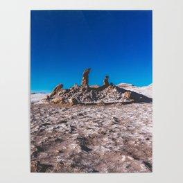 Las Tres Marías (Valle de la luna) - The three Marias Valley of the Moon, Atacama Desert, Chile Poster