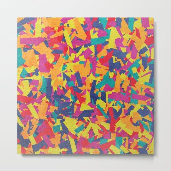 Seamless Colorful Geometric Pattern VI Metal Print