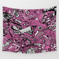 bubblegum Wall Tapestries featuring BubbleGum by DuckyB