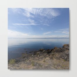 Ocean View San Juan Island - Minimalistic Fine Art Photo Print Metal Print