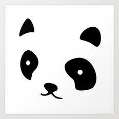Minimalistic Panda face Art Print