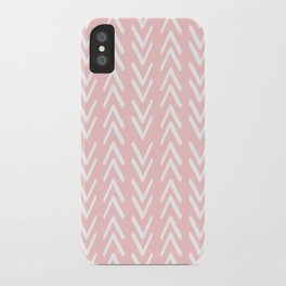 Pink Arrows Pattern iPhone Case