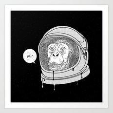 One Small Step, One Giant Ape Art Print
