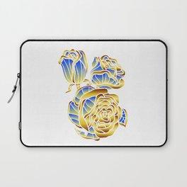 Midas Rose in Charming Blue Laptop Sleeve
