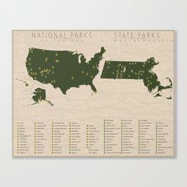 US National Parks - Massachusetts Canvas Print