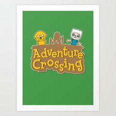 Adventure Crossing Art Print