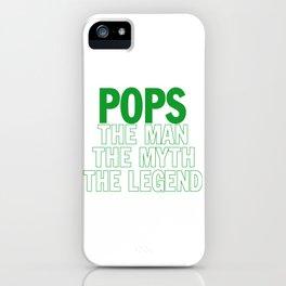 POPS THE LEGEND iPhone Case