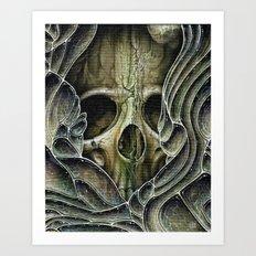 green bubble skull Art Print