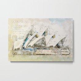 Sydney Opera, Australia Metal Print