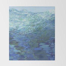 Effervescent Waves 2 Throw Blanket