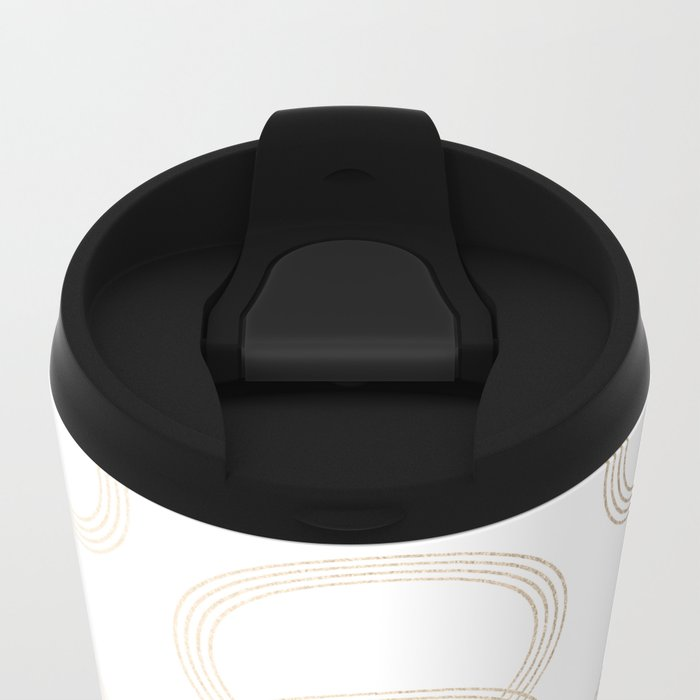 Simply Infinity Link in White Gold Sands on White Metal Travel Mug