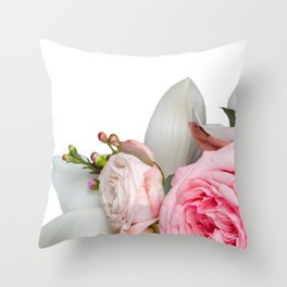 Get Real Flowers Throw Pillow