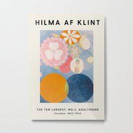 Hilma Af Klint - The Ten Largest No.2, Adulthood - Exhibition Poster - Art Print Metal Print