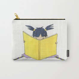 Little Girl Reading Carry-All Pouch