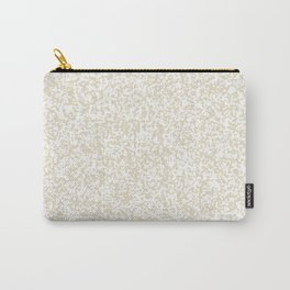 Tiny Spots - White and Pearl Brown Carry-All Pouch
