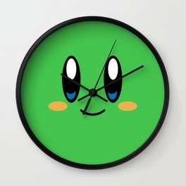 Kirby Face (Green) Wall Clock