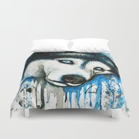 husky Duvet Covers featuring Husky by Villarreal
