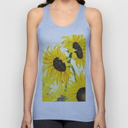 sunflower watercolor 2017 Unisex Tank Top