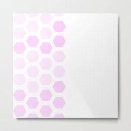 Pink Hex Metal Print