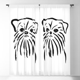 Brussels Griffon (Black and White) Blackout Curtain