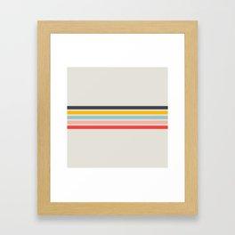 Retro Summer Vibe Framed Art Print