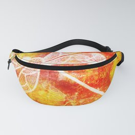 Dragonfly in embroidered beauty Fanny Pack