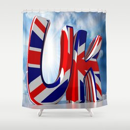 UK - United Kingdom Shower Curtain