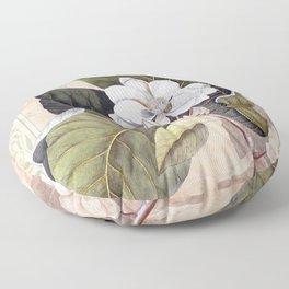 Vintage White Magnolia Floor Pillow