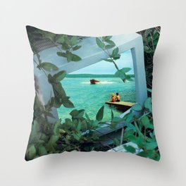 Living inside the box Throw Pillow