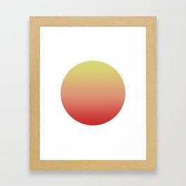 Sunrise Round Framed Art Print
