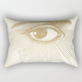 I See You. Vintage Gold Antique Paper Rectangular Pillow
