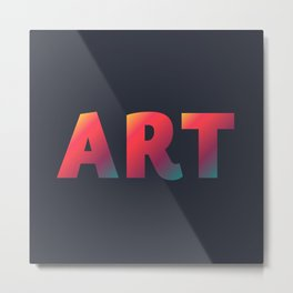 Art, minimalist typography, minimalist illustration, colorful, inspiring wall ar, inspirational word Metal Print