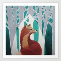 Fox Cathedral Art Print