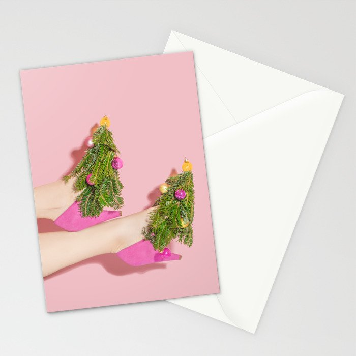 Deck the Heels Stationery Cards